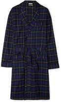 Sleepy Jones - Adams Checked Cotton-flannel Robe