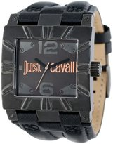 Just Cavalli Men's R7251585501 Timesquare Black Ion-Plated Coated Stainless Steel Vintage Look Case Bezel Watch