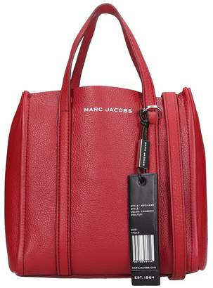 Marc Jacobs The Tag Tote 21 Shoulder Bag In Red Leather