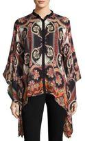 Etro Wool & Silk Poncho