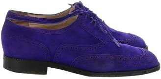 Chanel \N Purple Suede Lace ups