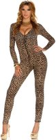Forplay Women's Leopard Zipfront Jumpsuit