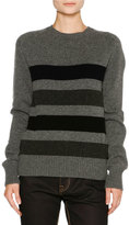 Tomas Maier Striped Cashmere Sweater, Gray