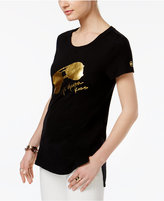 MICHAEL Michael Kors Cotton Aviator Graphic T-Shirt