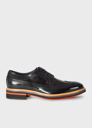 Men's Dark Navy Patent Leather 'Chase' Brogues