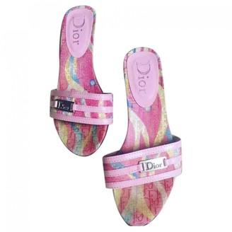 Christian Dior Pink Cloth Sandals