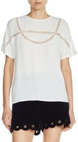 Maje Women's Lace Inset Top