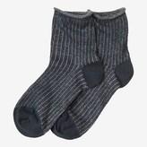 Toast Glitter Stripe Socks