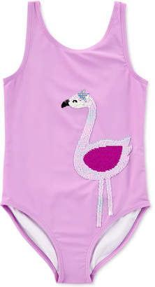 Carter's Carter Little & Big Girls 1-Pc. Reversible Sequin Swim Suit