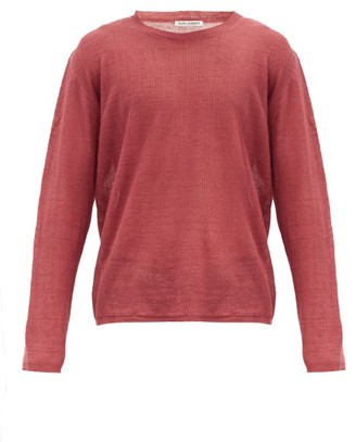 Our Legacy Striped Linen Long-sleeved T-shirt - Red