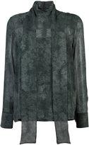 Akris sheer fade effect blouse