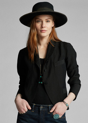 Ralph Lauren Linen-Wool Three-Button Jacket