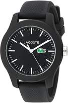 Lacoste Women's 12.12-Feet Quartz Resin and Silicone Automatic Watch, Color: (Model: 2000956)