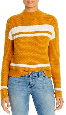 Design History Color-Block Mock Neck Sweater