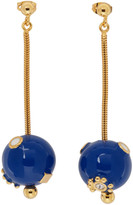 Marni Blue and Gold Pendant Earrings