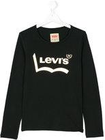 Levi's Kids - logo long sleeve top - kids - Cotton - 14 yrs