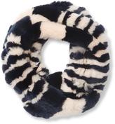 Surell Women's Rex Rabbit Knitted Infinity Scarf