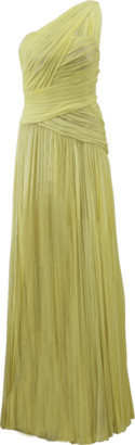 J. Mendel One Shoulder Draped Gown