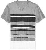 INC International Concepts Men's Newman Stripe Split-Neck T-Shirt, Only at Macy's