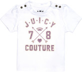 Juicy Couture Glitter-logo cotton-jersey t-shirt 3-24 months
