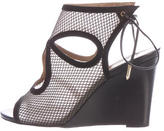 Aquazzura Mesh Wedge Sandals