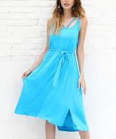 Size Plus AvenueWomen/'s Navy /& White Tassel Trim Tie Dye Romper