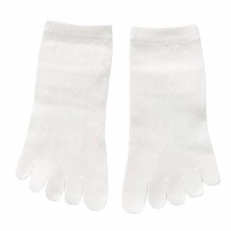 CUTUDE Women Solid Color Toe Socks Five Finger Socks Cotton Soft Funny Socks