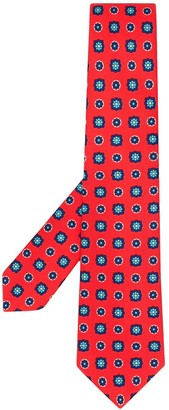 Kiton Abstract-Print Tie