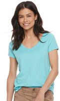 Petite SONOMA Goods for LifeTM Essential Print V-Neck Tee