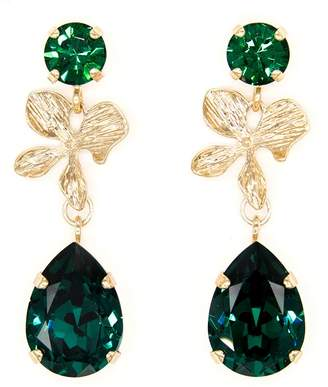 Rosaspina Firenze Emerald Orchid Earrings