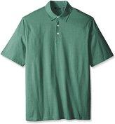 Arrow Men's Big-Tall Short Sleeve Self Collar Stripe Polo