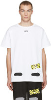 Off-White White Diagonal Spray T-Shirt