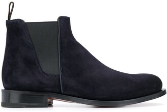 Santoni almond toe Chelsea boots