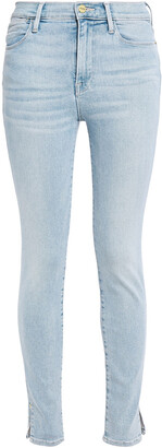 Frame Le High Skinny Crop Faded High-rise Skinny Jeans