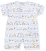 Kissy Kissy Safari Excursion Printed Pima Shortall, Blue/White, Size 3-24 Months