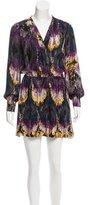 Parker Silk Abstract Print Dress