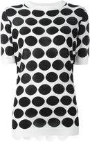 Marni dot intarsia top - women - Cotton/Viscose/Cashmere - 42