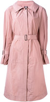Jil Sander Navy belted trench coat - women - Polyester/Acetate/Cupro - 36