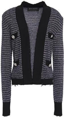 Balmain Sequin-embellished Knitted Jacket