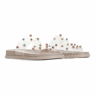 Vince Camuto Women's Partha Jeweled Flatform Slide Platform