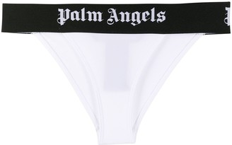 Palm Angels Logo Print Bikini Bottoms
