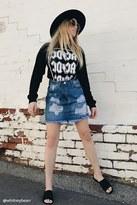 Forever 21 FOREVER 21+ Distressed Denim Mini Skirt