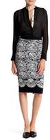 Rachel Roy Jacquard Lace Sweater Skirt
