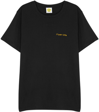 YEAH RIGHT NYC Starry Eyed Black Cotton T-shirt