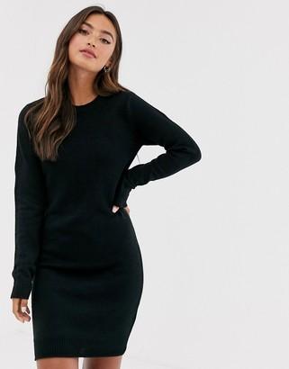 Brave Soul Grungy Round Neck Sweater Dress