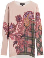 Etro Printed Wool Pullover with Cashmere