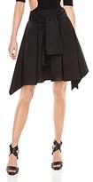 Halston Tie-Front Skirt