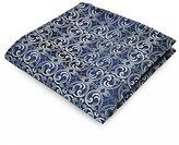 Pense'e PenSee 100% Silk Woven Floral Dark Pocket Square