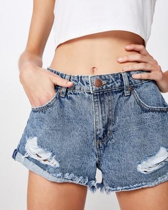 Cotton On Mid-Rise Saturday Denim Shorts