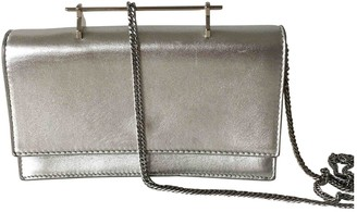 M2Malletier Silver Leather Handbags